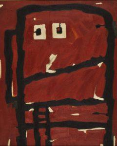 阿部展也《人物》1956年 油彩・キャンバス