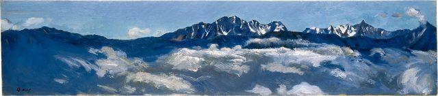 河越虎之進《山岳展望図絵B(穂高・槍)》1958年 油彩・キャンバス